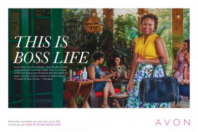 Avon: This is boss life - Georgiana Print Ad by Moxie Pictures, The Terri & Sandy Solution