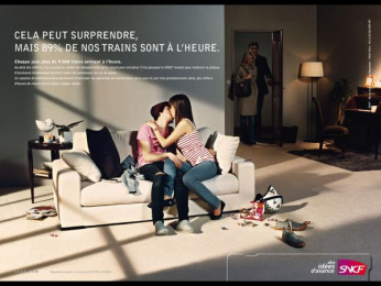 "Sncf: ""89% on time"" Print Ad by TBWA Paris"