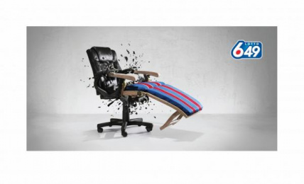 Lotto 649: CHAIR Print Ad by DDB Vancouver