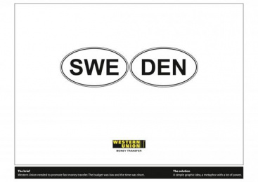 Western Union: SWEDEN [presentation image] Print Ad by Leo Burnett Bucharest