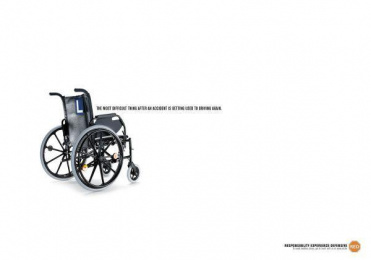 Red: WHEELCHAIR Print Ad by Grey Brussels