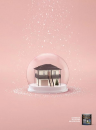 Taubmans: Pink Snow Globe Print Ad by Limehouse creative, Naked Communications