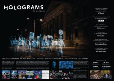 No Somos Delito (We Are Not Crime): Holograms for Freedom Ambient Advert by DDB Madrid, Garlic