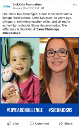 Sickkids Foundation: SickKids VS: #10YearChallenge, 6 Print Ad by Cossette Montreal