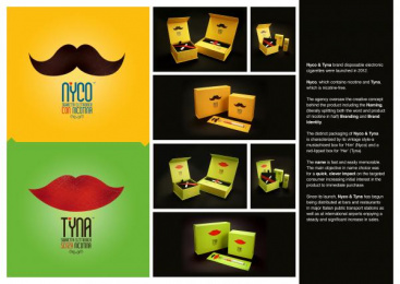 Electronic Cigarette: NYCO&TYNA Design & Branding by Cooee