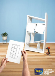 Reflex Paper: Instructions Print Ad by Cummins & Partners Melbourne