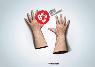 Trienergy: Gloves Print Ad by Genoma Bucaramanga