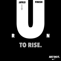Nike: Run to rise Print Ad by Pipe bomb Advertising, Bengaluru, India