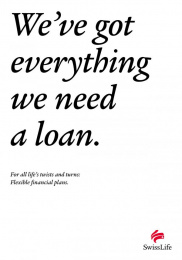 Ubs Swiss Life: Life's Turns In A Sentence, 7 Print Ad by Leo Burnett Zurich
