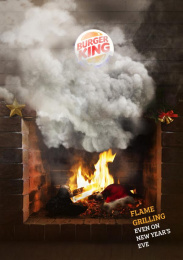 Burger King: Fireplace Print Ad by Team collaboration