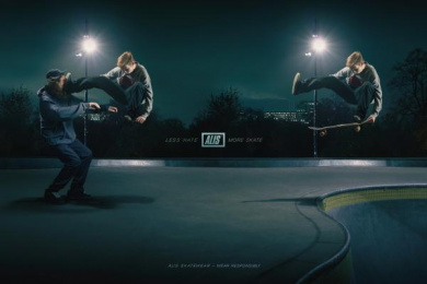 Alis: Less Hate – More Skate, 2 Print Ad by ... & Co.