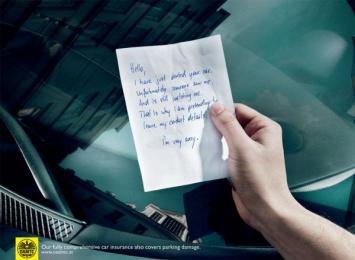 Austrian Drivers Alliance: Parking Damage Print Ad by Demner, Merlicek & Bergmann