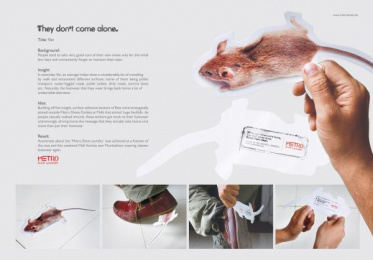 Metro Shoes: Rat Ambient Advert by Contract Advertising India, Makani Creatives