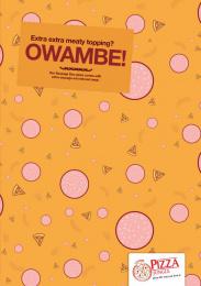 Pizza Jungle: Owambe-Ankara, 3 Print Ad by OneWildcard