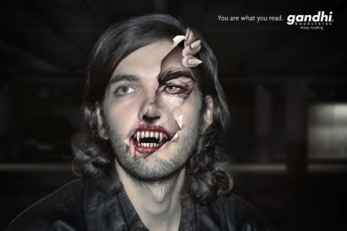 Gandhi Bookstores: DRACULA Print Ad by (anonimo) Mexico