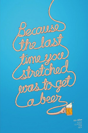 Liz Allan Yoga: Beer Print Ad by DentsuBos Montreal