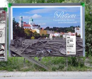 Aktion Deutschland Hilft: Passau Ambient Advert by Heye & Partner Munich