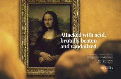 Fundación Todas Unidas: Mona Lisa Print Ad by Cheil Bogotá