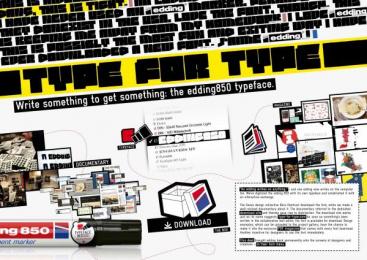 Edding: TYPE FOR TYPE Print Ad by Kempertrautmann Hamburg, Shift