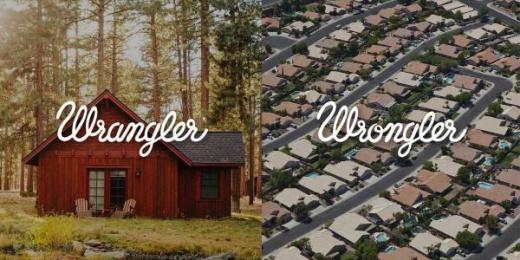 Wrangler: Wrangler vs Wrongler, 13 Print Ad by WE ARE Pi