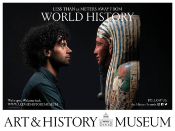 Art & History Museum: Less Than 1.5 Meters Away From World History, 4 Outdoor Advert by Kopstoot, Belgium