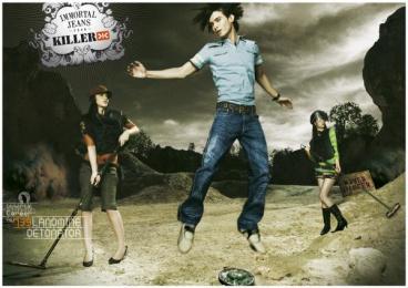 Killer Jeans: Killer Jeans Print Ad by Bates Mumbai