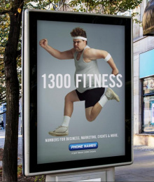 Phone Names: 1300 Fitness Outdoor Advert by Magnum Opus