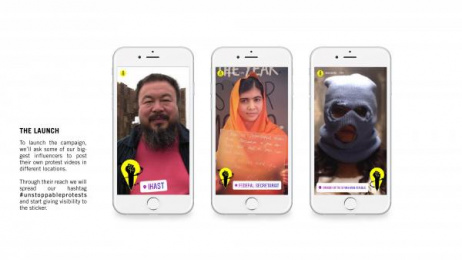 Amnesty International: Unstoppable Protests, 3 Digital Advert by Miami Ad School Lima, Miami Ad School Mumbai