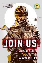 Latvijas armija: Join Us, 4 Print Ad by Tribe