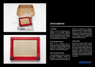 FRAGILE DELIVERIES: ETCH-A-TELESKETCH Direct marketing by Ruiz Nicoli