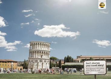 Beeline: Pisa Print Ad by RED Almaty