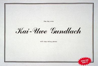 Kai-uwe Gundlach: OBITUARY Print Ad by Kolle Rebbe Hamburg