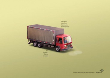 Ecovia: The best route is the one taken with safety, 3 Print Ad by DBPV Cascavel