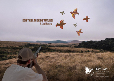 Haytap: Stop Hunting: Bird Print Ad by THEBADGUYS, İstanbul, Turkey